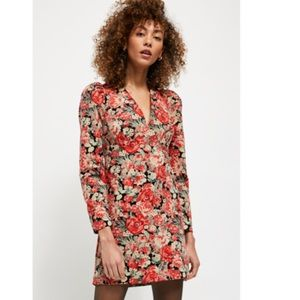 "NWT Free People Red Floral ""Kapowski"" Mini Dress"
